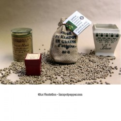 Kampot White Pepper PGI - 80g jute bag