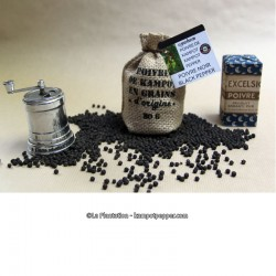 Black Kampot Pepper 80g jute bag