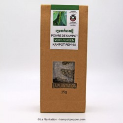 Dehydrated Green Kampot Pepper PGI - 50g recycle paper