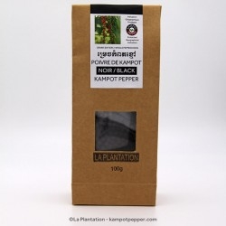Black Kampot Pepper 100g recycle bag