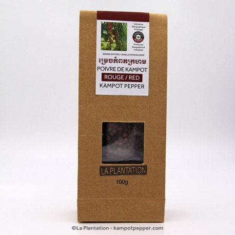 Red Kampot Pepper 100g recycle bag