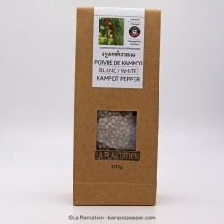 White Kampot Pepper 100g recycle paper