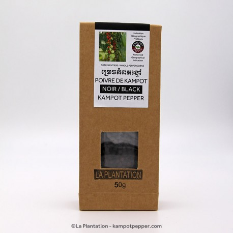 Black Kampot Pepper 50g recycle bag