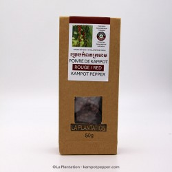 Red Kampot Pepper 50g recycle bag