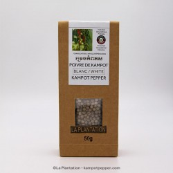Poivre Blanc de Kampot IGP 50g Recycle Pepper