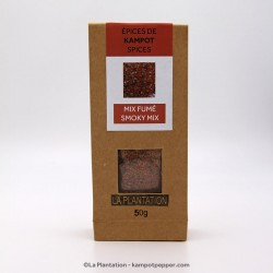 SMOKY MIX - Flower of Salt and Smoked Sweet Long Chili - 50g recycle paper