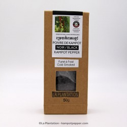 Smoked Black Kampot Pepper PGI - 50g recycle paper